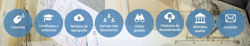 Imagen de cabecera del apartado Servicios del Archivo General