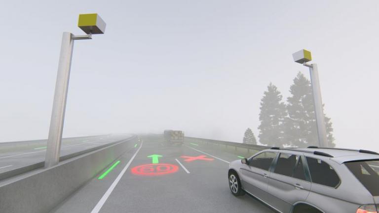 Imagen noticia: LED proyecto sobre la calzada - Ministerio de Transportes, Movilidad y Agenda Urbana.