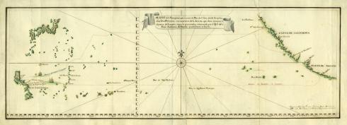 Ruta ida y vuelta galeon Manila. Autor Museo Naval