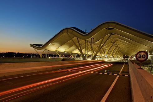 Entrada aeropuerto Madrid-Barajas