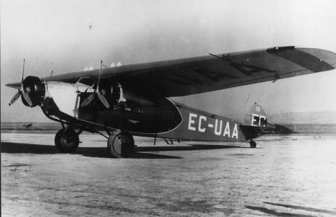 Foto del Fokker F.VIIb/3m de LAPE